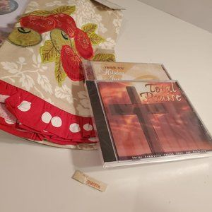 Christmas Ornament Holder, Towel, and Holiday CDs